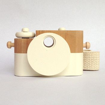 twig creative pixie wooden toy camera in cotton | brands