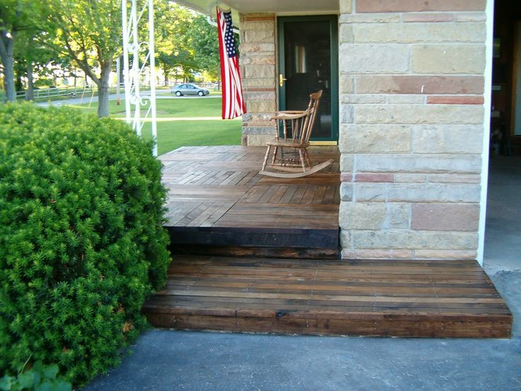 Best Reclaimed Wood Over Concrete Front Porch Home Sweet Home 400 x 300