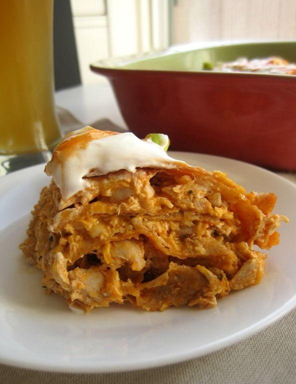 Buffalo Chicken Tortilla Pie | Recipe