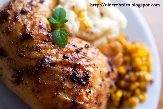 Garlic Roasted Chicken Leg Quarters 4 cloves garlic, finely minced 1 ...
