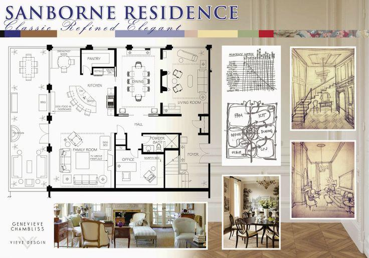 Presentation board interior design boards pinterest for Interior design layout presentation