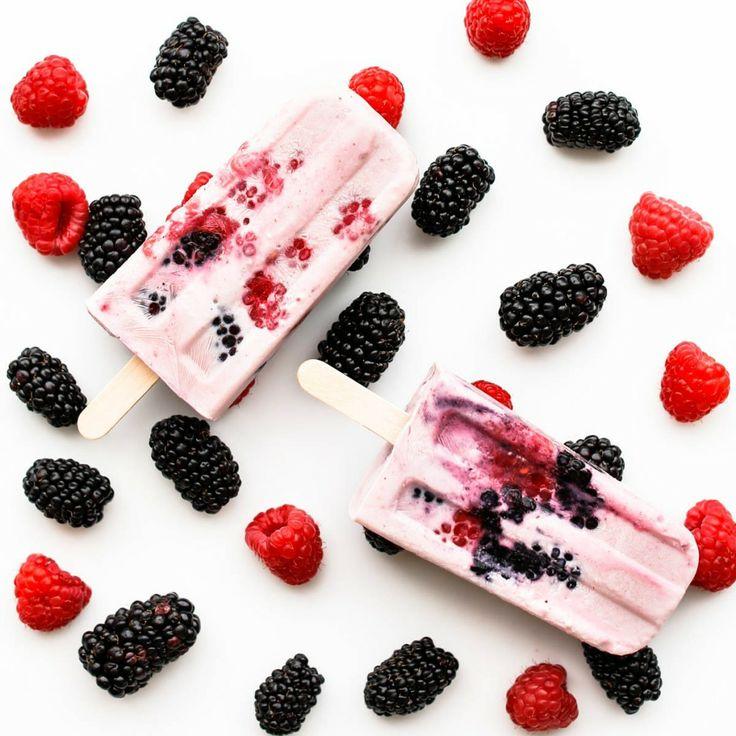 Very Berry Greek Yogurt Popsicles | All-Natural & Healthy Treats | Pi ...