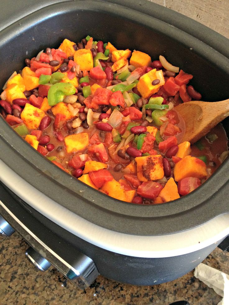 Vegetarian Butternut Squash Bean Chili in my @Ann Flanigan Hoang ...