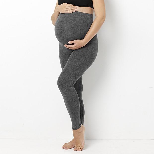 charcoal marle maternity leggings