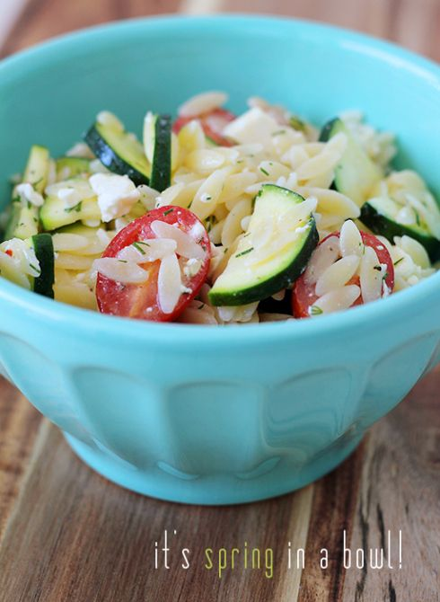 Zucchini Orzo Salad | Everything salad | Pinterest