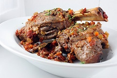 Lamb Shanks Braised with Tomatoes and Herbs