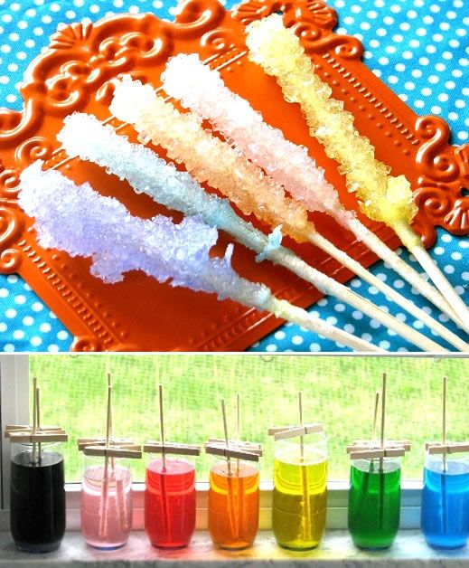 I want to do this!      How to make your own Rock Candy! A delicious science experiment :) Lots of neat things on this site.