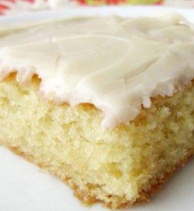 White Texas Sheet Cake Paula Deen