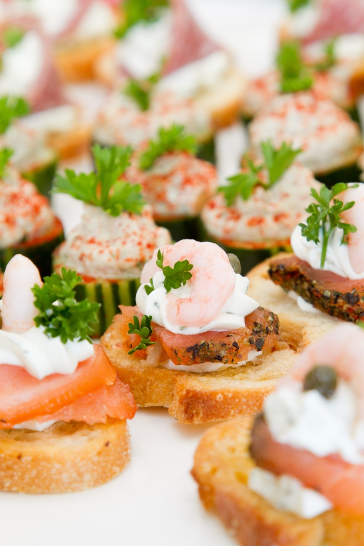 Salmon canapes recipes dishmaps for Smoked salmon canape
