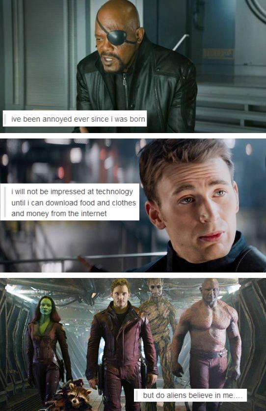 Avengers/Guardians + text posts