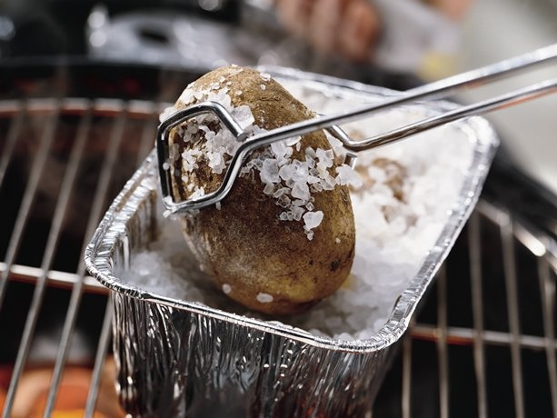 Baked Potatoes on the Grill | Recipe