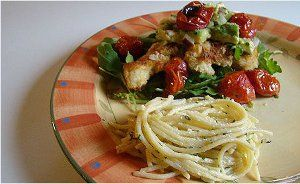 Greek Chicken Milanese Recipe — Dishmaps