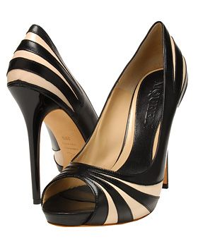 Swirled Two-Tone Pumps by Alexander McQueen