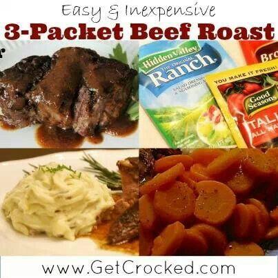 Crock pot roast beef | Nummie Yummies | Pinterest