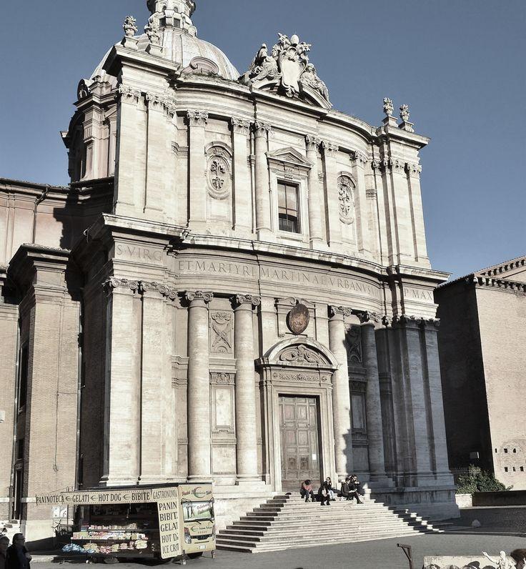 ITALIAN BAROQUE ARCHITECTURE  Cortona  church of Santi Luca e Martina    Italian Baroque Architecture
