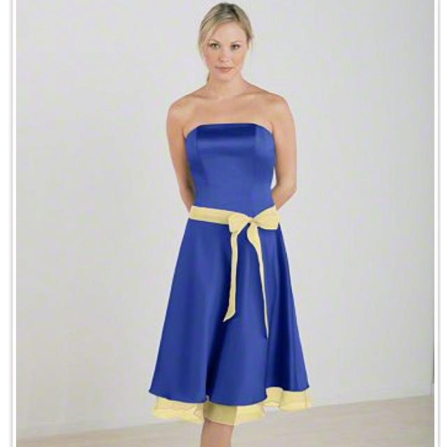 Blue and Yellow Bridesmaid Dresses – Dresses for Women