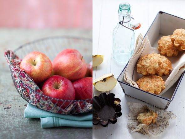 "Vegetarian recipe for ""Apple, Gruyere and Sage Muffins,"" plus a ..."