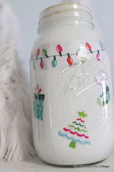 Christmas mason jar craft for Crafts using mason jars