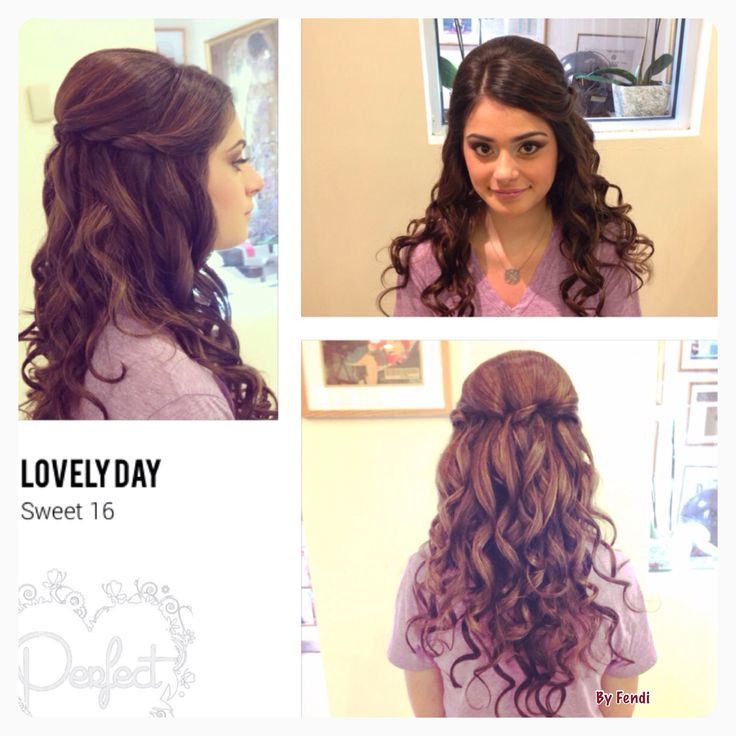 hairstyles for tea party : Sweet 16 hairstyle ! Sweet 16 ideas Pinterest