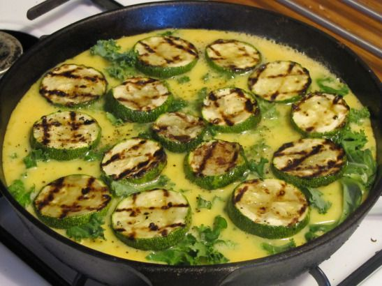 Paleo Butternut Squash, Kale & Zucchini Frittata (omit egg if you have ...