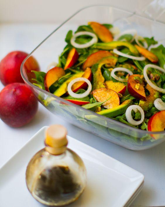 Balsamic Peach Avocado Salad | Salads of All Sorts | Pinterest