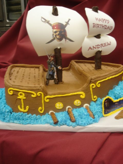 Pirate of the Caribbean Cake