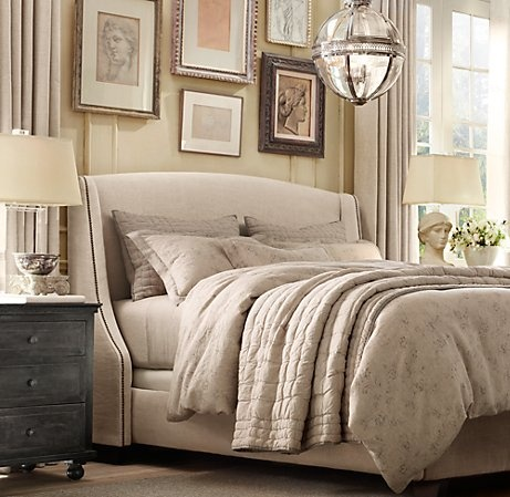 restoration hardware tufted linen quilt bedroom ideas pinterest