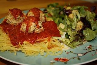 Spaghetti Squash & Cannellini Meatballs | Feed me. | Pinterest