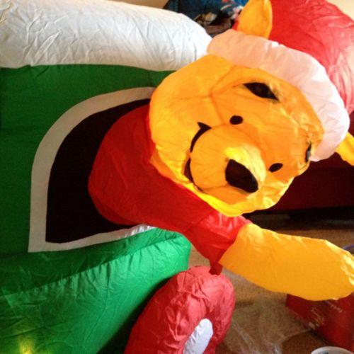 Gemmy Disney Winnie Pooh Train Airblown Inflatable Christmas Decor No ...