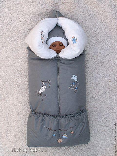 Зимний конверт для новорожденного сшить