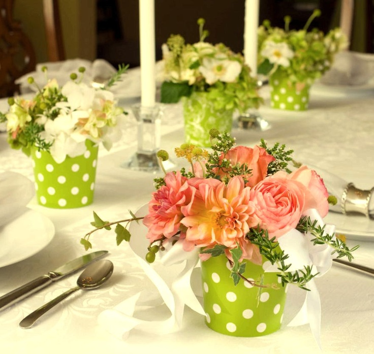 Centros de mesa con flores festejando pinterest - Centros de mesa con flores ...