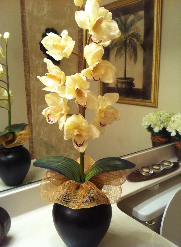 Orquideas de latex muy naturales arreglos con flores de - Arreglo de flores naturales ...