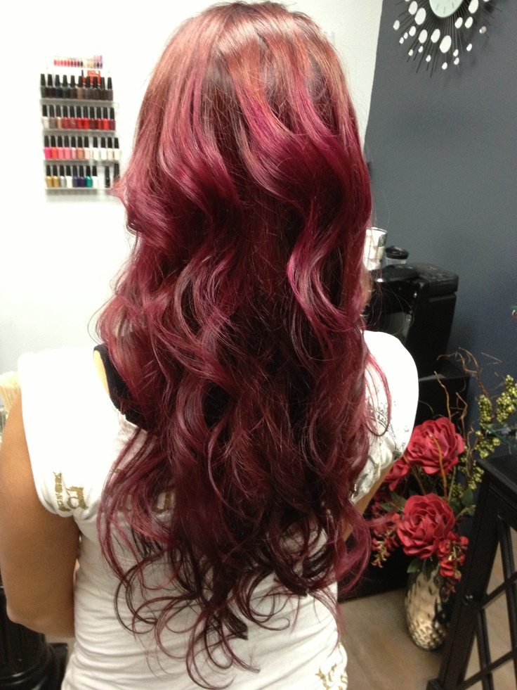 wine hair color brown hairs