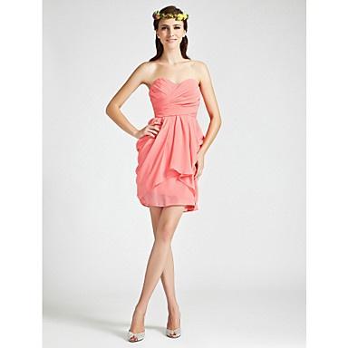 LESLIE - robe fille d'honneur Mousseline – CA$ 100.42
