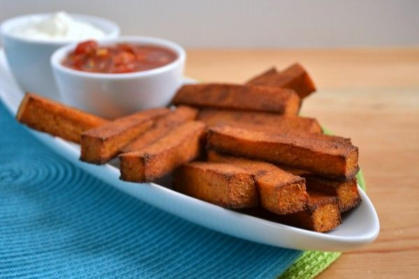 Baked Chili Cheese Polenta Fries