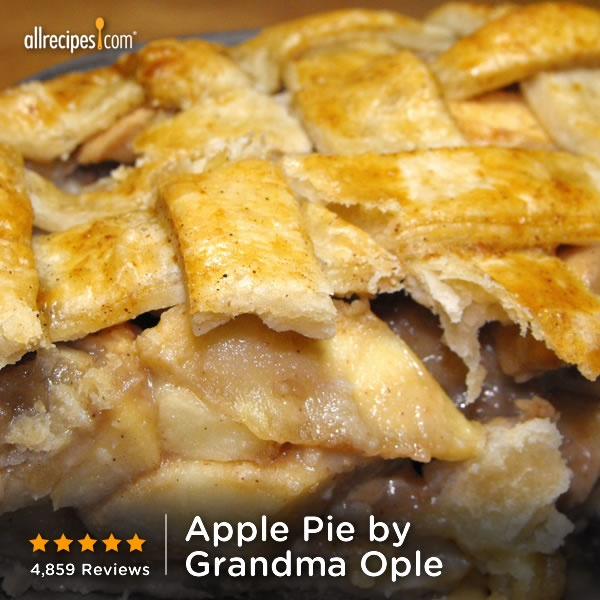 ... pie. (Apple Pie by Grandma Ople) http://allrecipes.com/video/816/Apple