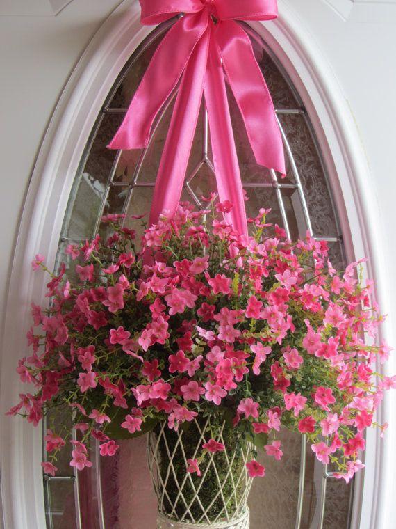 Spring wreath front door wreaths summer wreath boxwood wreath
