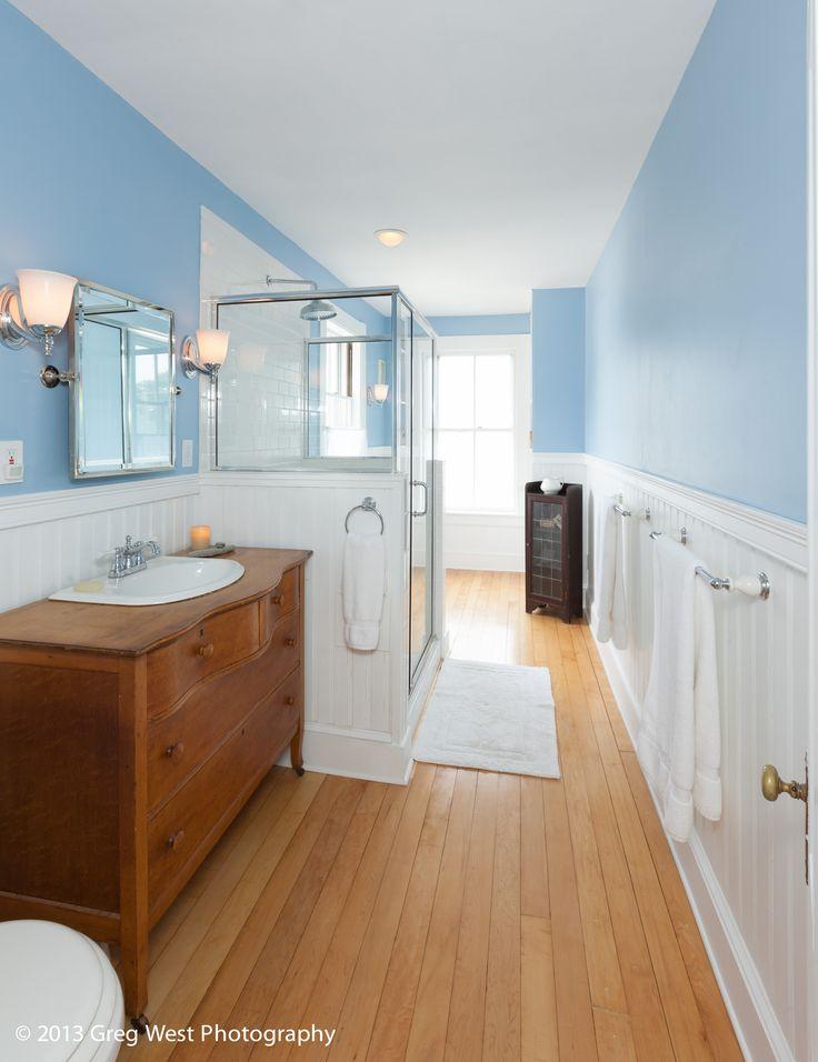 Light Blue Walls With Beadboard Bathroom Pinterest