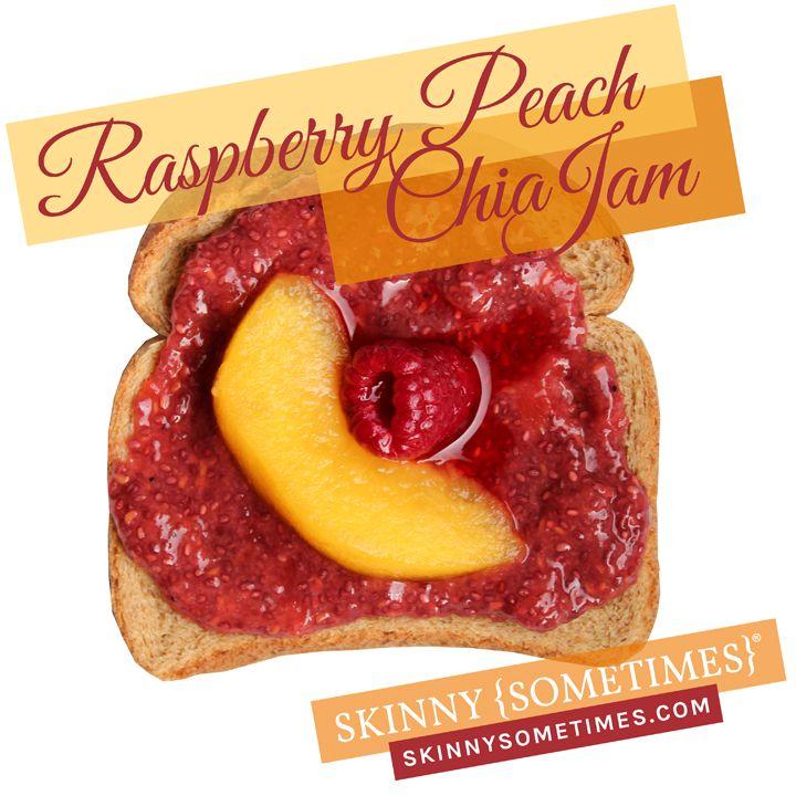 raspberry peach chia jam clean and easy recipe