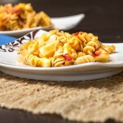 Whole grain mac & cheese loaded with butternut squash, caramelized ...