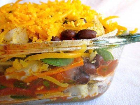 Stacked Roasted Vegetable Enchiladas -
