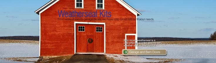 Brush seal weatherstrip, door sweeps, garage seals - Brush Weatherseal