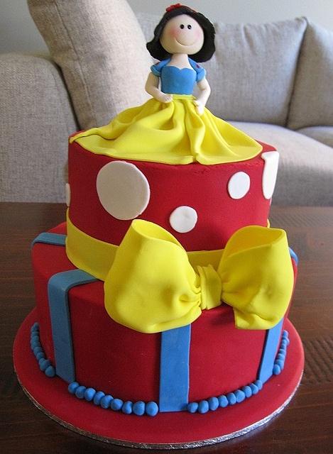 My Birthday Cake - Snow white cake | Flickr - Photo Sharing!