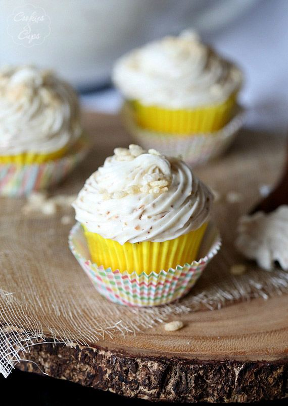 Toasted Marshmallow Buttercream Frosting #Cupcakes