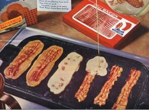 ... syrup to these and you have a winner! Recipe: Bacon Strip Pancakes