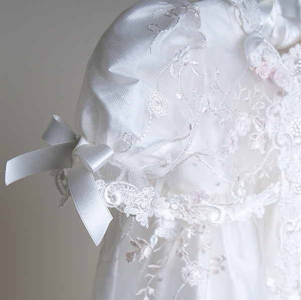 Scarlett Heirloom Lace Christening Gown