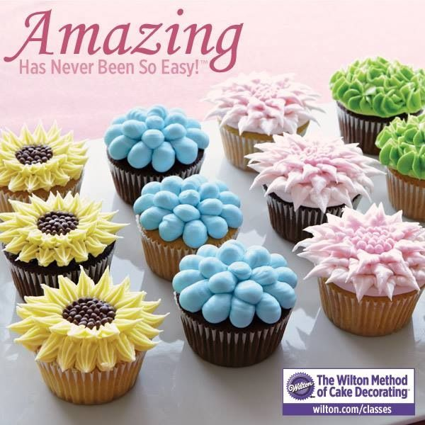 Flowers cupcakes! Ideas cupcakes! Pinterest