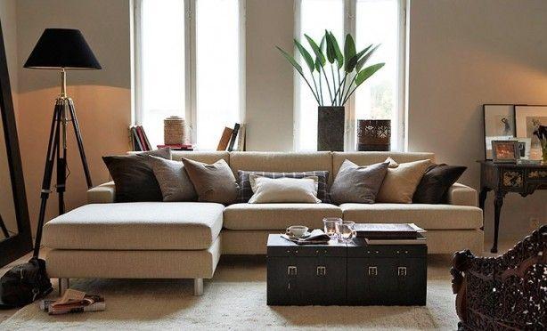 natuurlijke kleuren woonkamer  Interieur  Pinterest