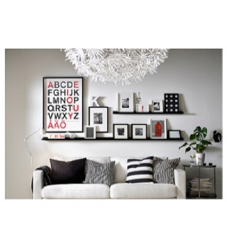 Home Decorating on Photo Ledge Idea    Home Decorating