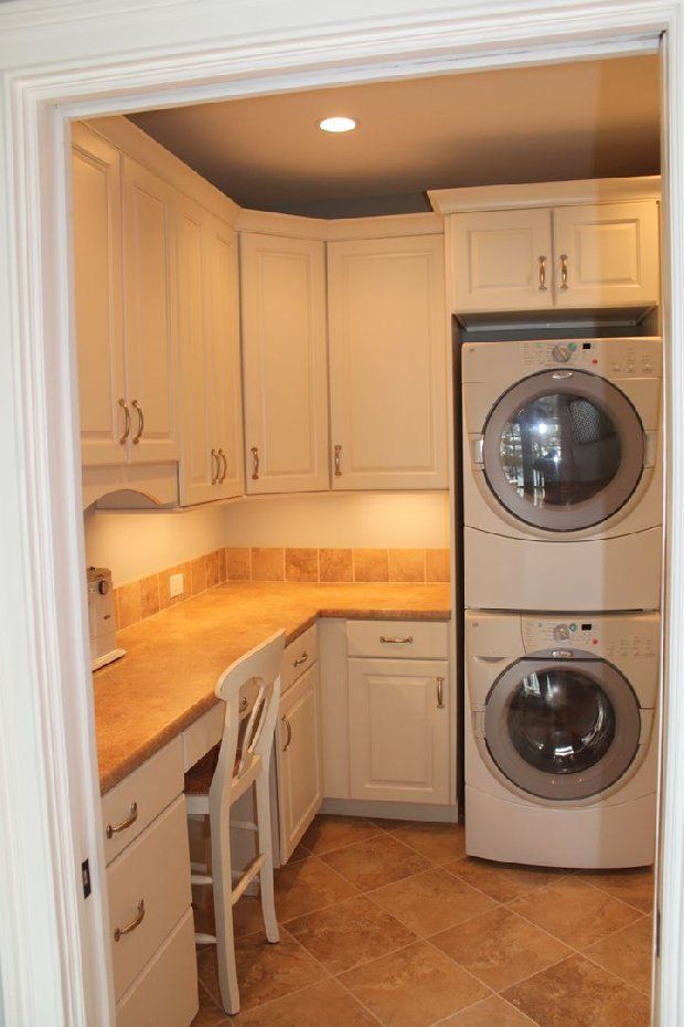 A laundry and office room duo home pinterest for Laundry room office